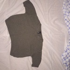 Cropped dark green h&m sweater